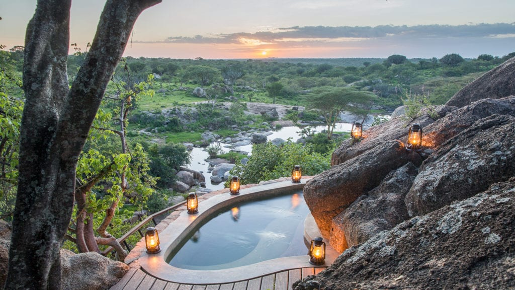 Mwiba lodge jacuzzi: luxury honeymoon safaris